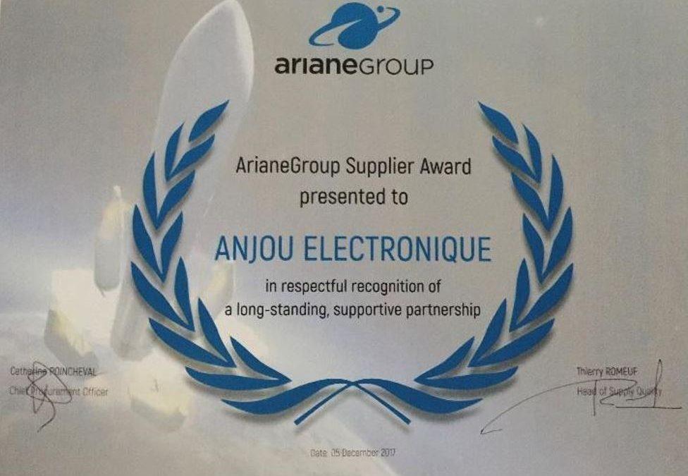 ArianeGroup récompense le groupe AMETRA pour la qualité de ses prestations